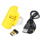 2.4GHz Ring-Style 800DPI Wireless Optical Finger Mouse - Yellow