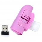 2.4GHz Ring-Style 800DPI Wireless Optical Finger Mouse - Pink