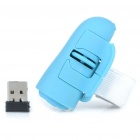 2.4GHz Ring-Style 800DPI Wireless Optical Finger Mouse - Blue