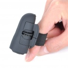 2.4GHz Ring-Style 800DPI Wireless Optical Finger Mouse - Black