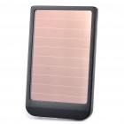 Solar / AC Powered Rechargeable 2600mAh Portable Power Pack mit Charging Adapter - Schwarz