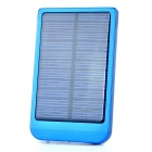 Solar/AC Powered Rechargeable 2600mAh Portable Power Pack with Charging Adapters - Blue