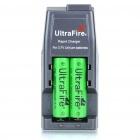 "Ultra Fire All-in-One Batteries Charger with 2 x 18650 Rechargeable ""2600mAh"" Li-ion Batteries"