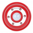 PIR Motion Activated 6-LED White Light - Red (4 x AAA)