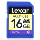 Genuine Lexar SDHC Memory Card - Random Color (16 GB / Class 4)