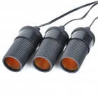 Three-Way Car Cigarette Lighter Socket Splitter (DC 12~24V)