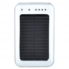 Solar Powered wiederaufladbare 2600mAh tragbare Power Pack w / 3-LED-Weißlicht-und Ladeadapter