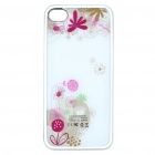 Designer's 1500mAh Rechargeable External Battery Back Case for iPhone 4 - White