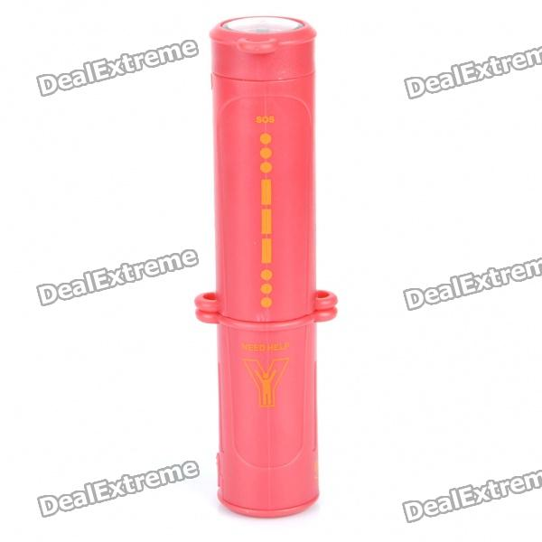 Portable Multi-Function Outdoor Survival 10-in-1 Emergency Flashlight with Hang Strap - Red