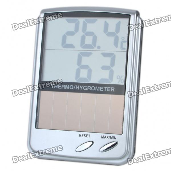 "Solar Powered 4.2 ""LCD Digital Hygrothermograph (1 x CR2032)"