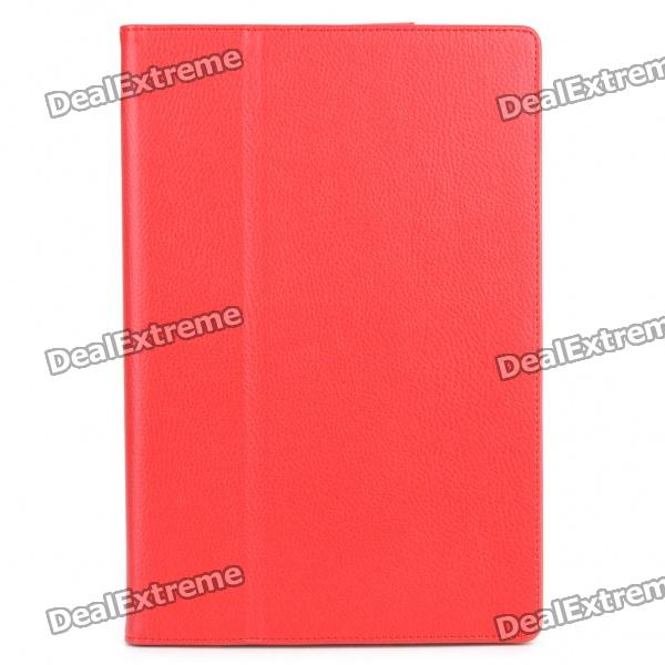 Protective PU Leather Case for Asus Eee Pad Transformer TF101 - Red