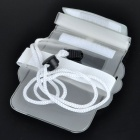 BINGO Waterproof PU Bag Case with Belt/Strap for Cell Phone - White