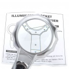 65mm Handheld 6X Magnifier with 6-LED White Light (2 x AAA)