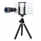 10x Zoom Telescope Lens with Tripod & Back Case for for Sony Ericsson 15i / 18i - Black
