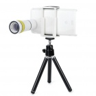 10x Zoom Telescope Lens with Tripod & Back Case for Sony Ericsson Xperia Arc - White
