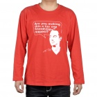 The Big Bang Theory Sheldon Friendship Request Long Sleeve Cotton T-Shirt - Red (Size XL)