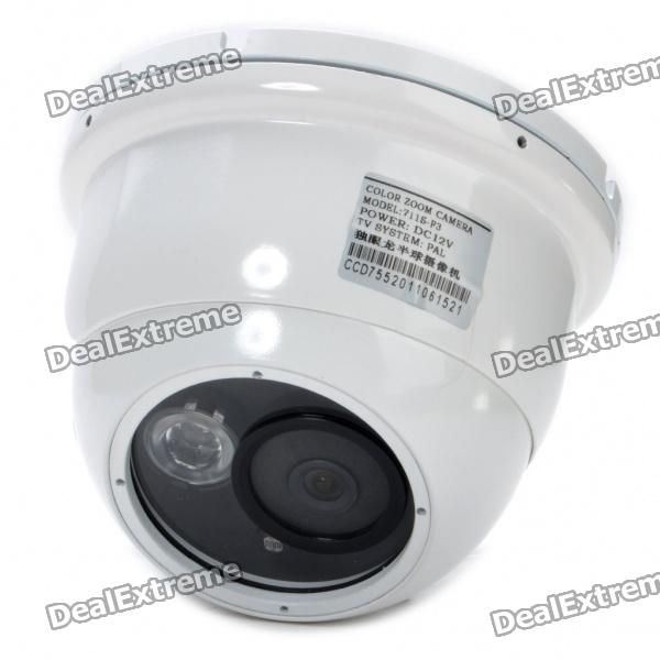 1/3 CCD Wired Surveillance Security Camera w/ IR Night Vision (PAL) 1 3 ccd waterproof surveillance security camera with 42 led night vision white dc 12v
