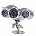 "1/3"" CCD Aluminum Alloy Waterproof Surveillance Security Camera w/ 72-IR LED Night Vision"