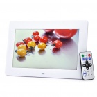 "10"" TFT LCD Digital Photo Frame with USB/Mini USB/SD/MMC/MS/3.5mm Audio Jack - White (800 x 480px)"