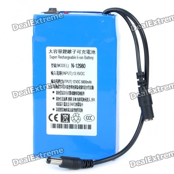 Rechargeable 9800mAh Li-ion Emergency Power Battery for Camcorder/Walkie Talkie/Camera + More