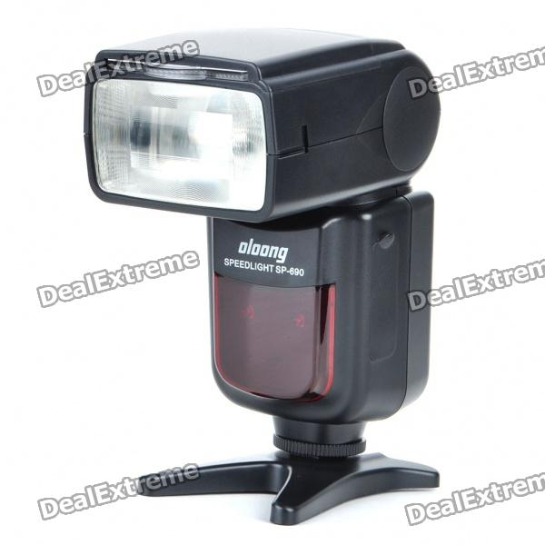 OLOONG SP-690N Flash Speedlite Speedlight for Nikon DSLR (4xAA) yn565ex 2 1 lcd flash speedlite speedlight for nikon d700 more 4 x aa not included