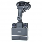 "2.0"" TFT Wide Angle Dual-Camera 2.0MP Car DVR Camcorder with 8-LED IR Night Vision/TF"