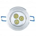 3W 6500K 280-Lumen 3-LED White Ceiling Spot Light Bulb w/ LED Drive (85~265V)