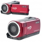 5MP Digital Video Camcorder w/ 4X Digital Zoom/White LED Light/AV-Out/SD - Red (2.4
