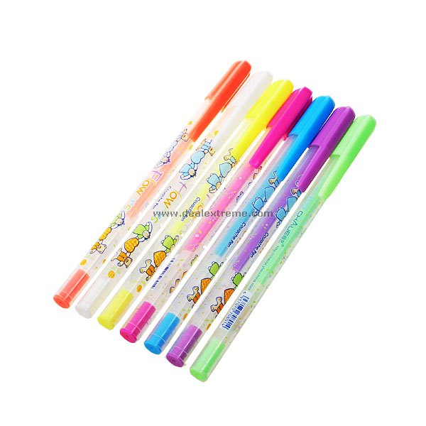 Cute Bear Couple Glitter Pen (7-Pack)