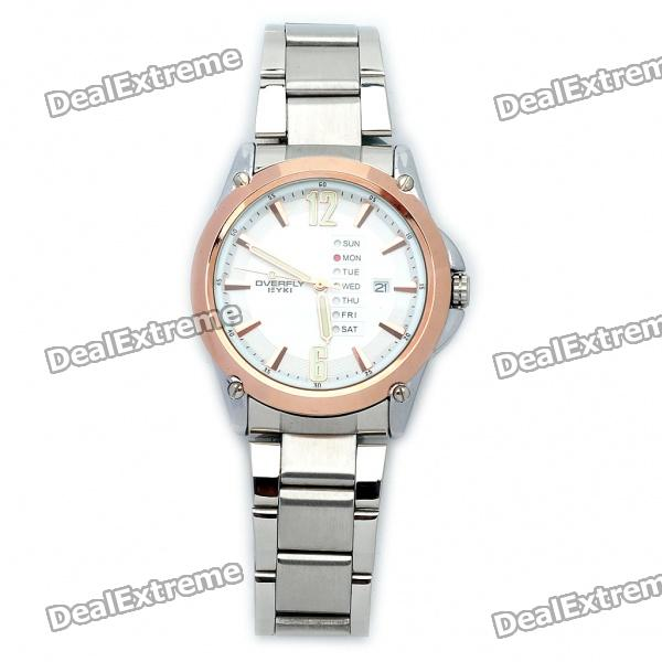 Stylish Stainless Steel Quartz Wrist Watch (1 x LR626) stylish crystal stainless steel quartz water resistant wrist watch light blue 1 x lr626