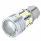 T25 7W 430-Lumen 6500K White 12-SMD + 1-LED Car Turning/Tail/Backward Signal Lamp (12V)