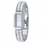 Elegante Water Resistant Stainless Steel Bracelet Style Lady Armbanduhr (1 x SR521SW)