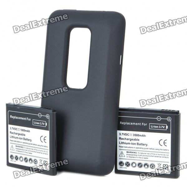Replacement 3.7V 1800mAh/3.7V 3500mAh Batteries w/ Battery Cover Set for HTC EVO 3D replacement 3 7v 1500mah cellphone battery with charger for htc desire hd