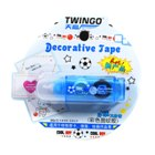 Colorful Cartoon Patterns Decorative 6mm Correction Tape (4-Meter Assorted 2-Pack)