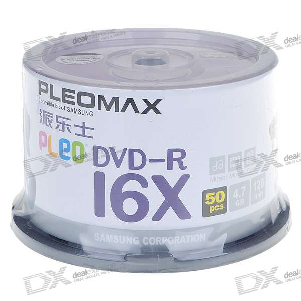 PleoMax 16X 4.7GB 120-min DVD-R (50-Disc Spindle)