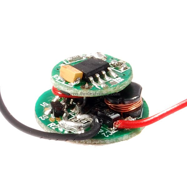 3.6~8.4V 5-Mode 3W Circuit Board for Flashlights (1000mAh 3.7V Output)