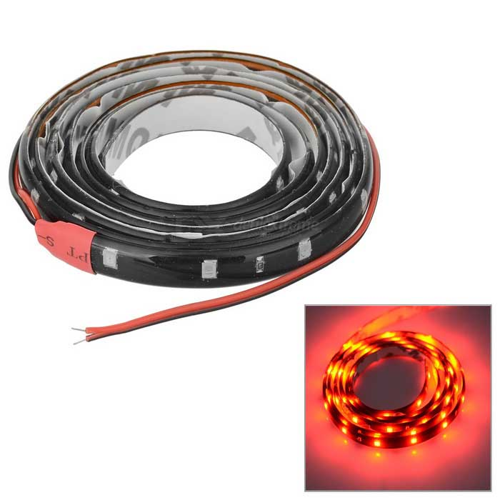 Super Slim 60-LED 120cm DC12V Soft SMD Light Strip (Red LED)