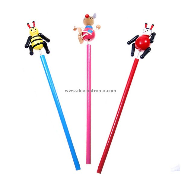 Assorted Cartoon Ball Pens (3-Pack)