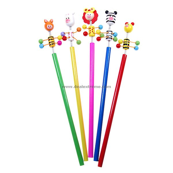 Assorted Cartoon Pencils (5-Pack)