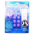Crystal Case and Protective Buttons Set for Wii Remotes (12-Piece Set)