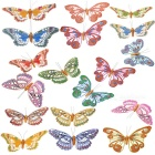 Beautiful Magnetic Stick-on Butterflies Ornament for Home and Garden (Assorted 4-Pack)