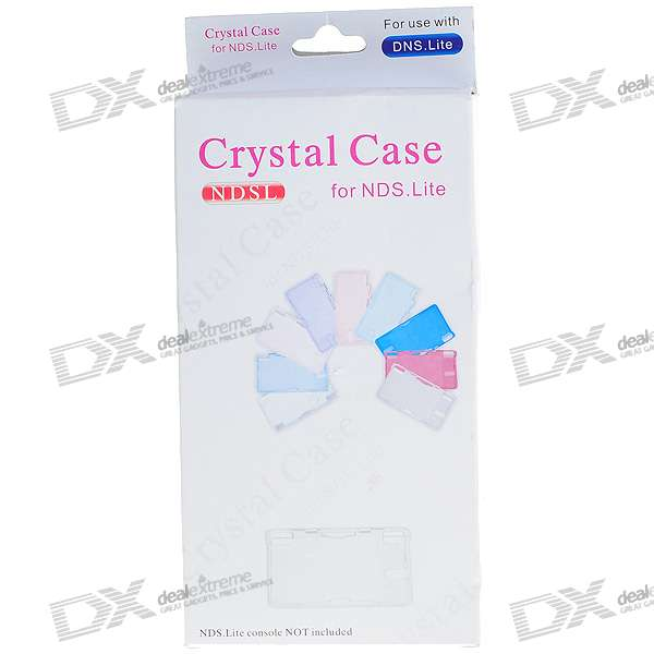 Crystal Protective Case for NDS Lite protective silicone case for nds lite translucent white