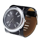 Trendy Black Wide-Banded Wrist Watch