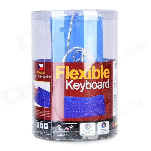 Ultrathin 3mm Blue Flexible Waterproof Keyboard