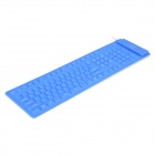 Ultrathin 3mm Blue Flexible Water Resistant USB 78-Key Keyboard (145cm-Cable)