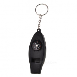 Survival Whistle with Compass Thermometer and Magnifier