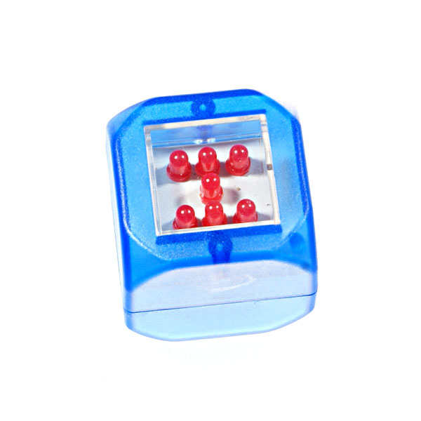 Roll and Tap Activated Digital LED Dice (Assorted Colors)