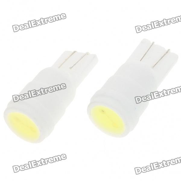 T10 1W 19-Lumen LED Car White Light Bulbs (Pair/DC 12V) от DX.com INT