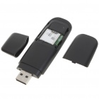 7.2M HSDPA 3G SIM Card USB 2.0 Wireless Modem Adapter with TF Card Slot - Black