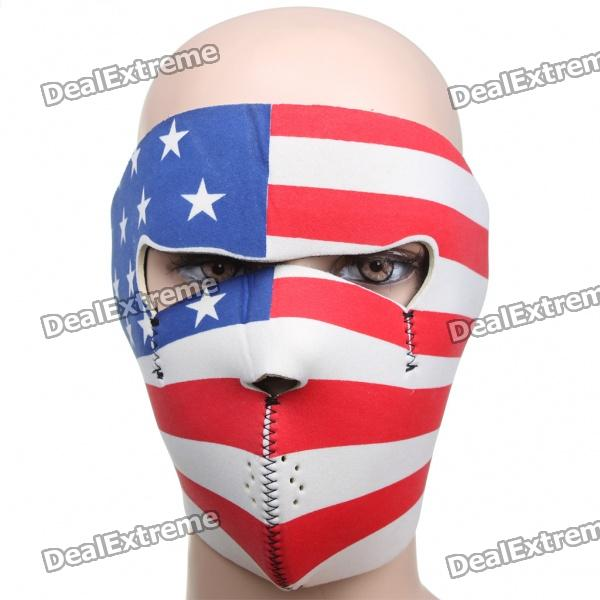 The Flag of the United States Style Motorcycle/Hiking/Party Windproof Face Mask